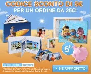 Codice sconto promozionale da 5 euro di stampa foto digitali for Codice fiscale da stampare