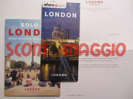 copia omaggio di una guida turistica londinese