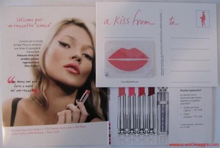cartolina campione gratuito di rossetto