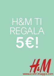 due coupon sconto H&M