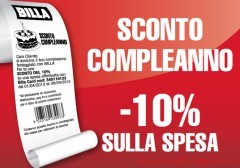 coupon sconto supermercati billa