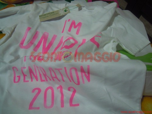 t-shirt omaggio benetton kids