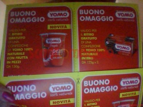 buoni omaggio yogurt yomo
