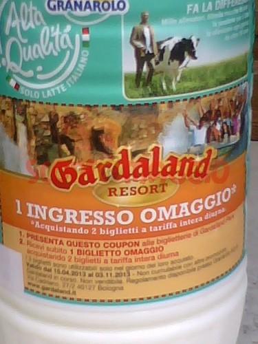 granarolo biglietto omaggio Gardaland