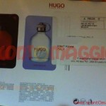 Cartoline profumate Hugo Boss arrivate gratis
