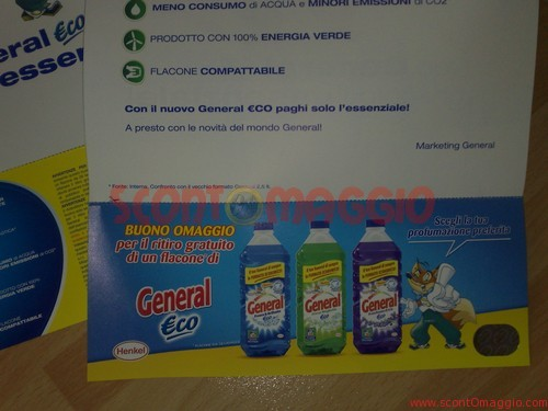 coupon gratis General Eco