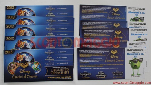 biglietti omaggio Classici Disney
