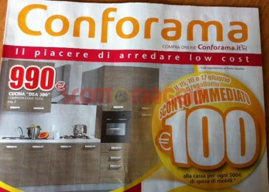 conforama sconto 100 euro