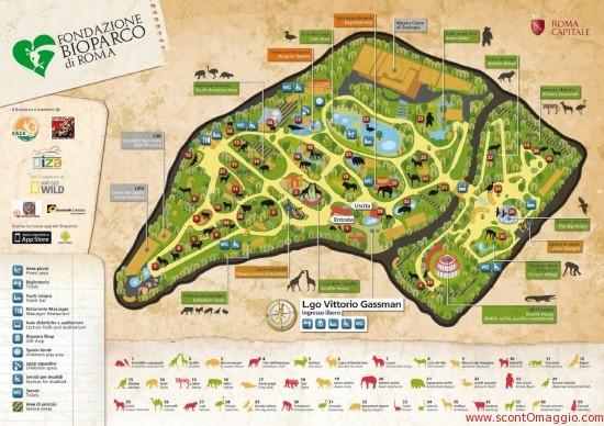 mappa bioparco di roma