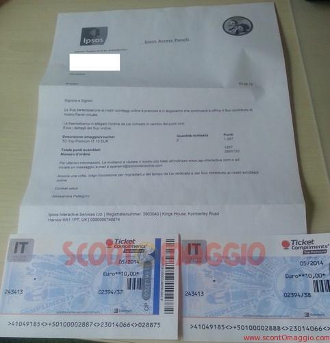 2 ticket compliments Ipsos