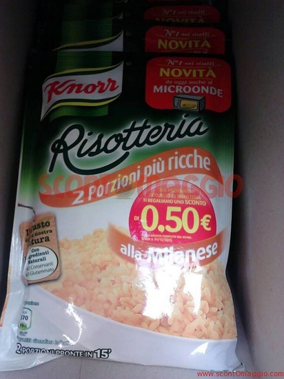 coupon sconto knorr