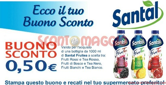coupon sconto santal