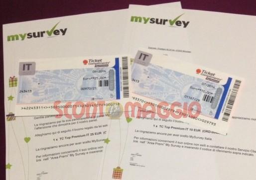 ticket compliments con mysurvey