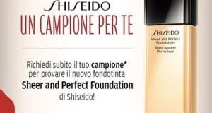 shiseido campione omaggio fondotinta