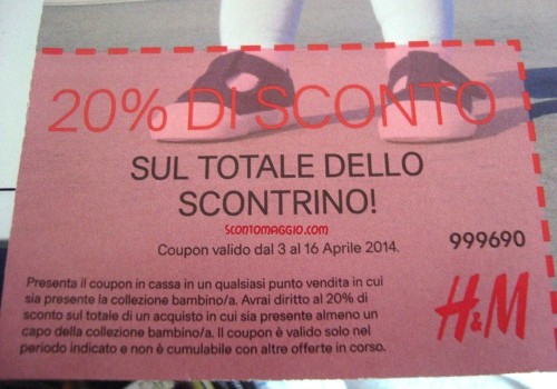 coupon h&m