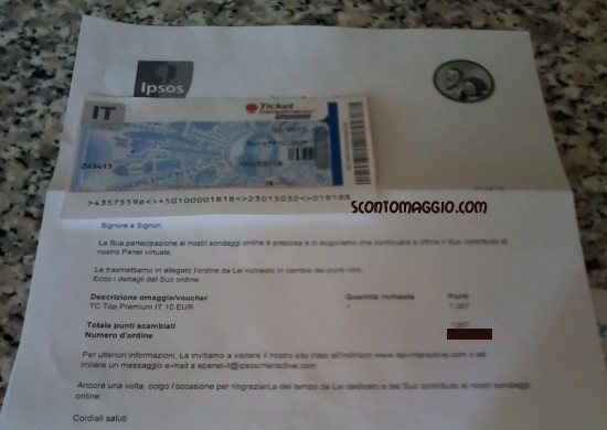Ticket 10 euro Ipsos