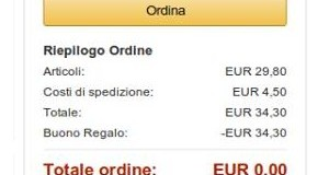totale 0 € su Amazon.it