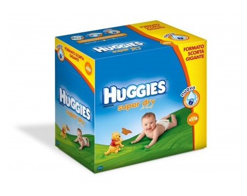 huggies super dry 176 pannolini