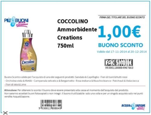 Piubuoni.it: buoni sconto Acqua e Sapone da stampare