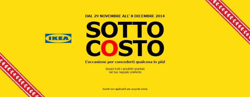 sottocosto ikea 29 novembre 8 dicembre 2014 scontomaggio. Black Bedroom Furniture Sets. Home Design Ideas