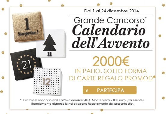 calendario dell'avvento Promod