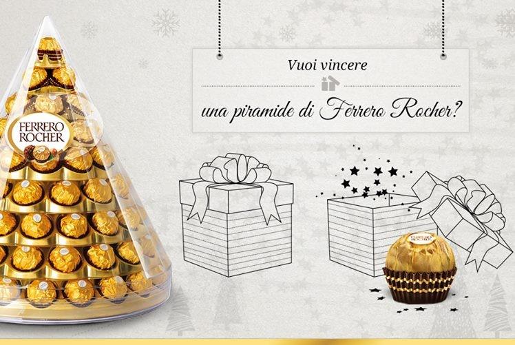 Calendario Avvento Ferrero.Vinci Una Piramide Di Ferrero Rocher Con Il Calendario Dell