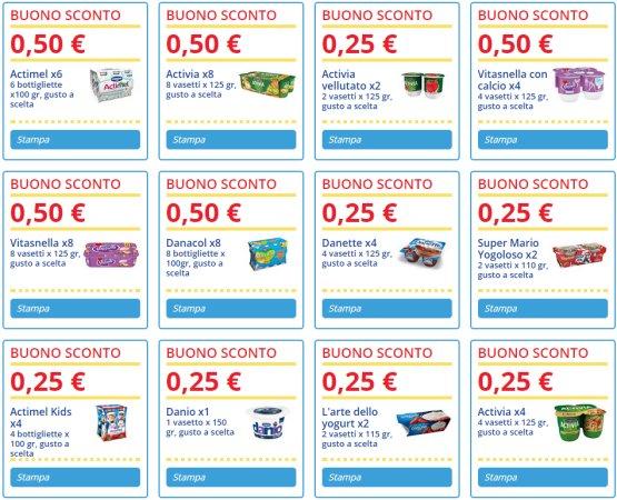 Coupon spesa italia da stampare