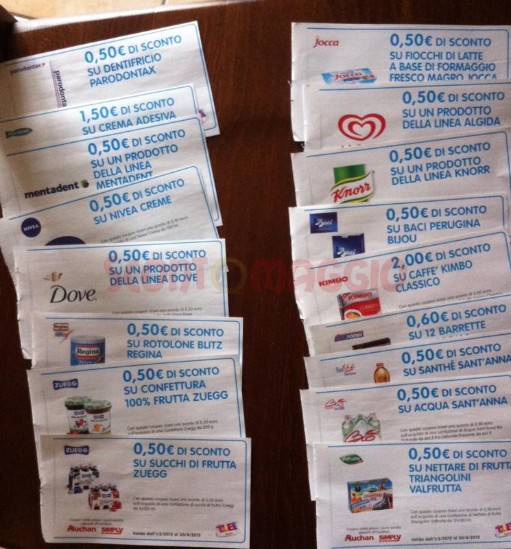 Auchan coupon sconto
