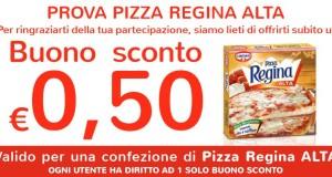 buono sconto pizza regina alta cameo