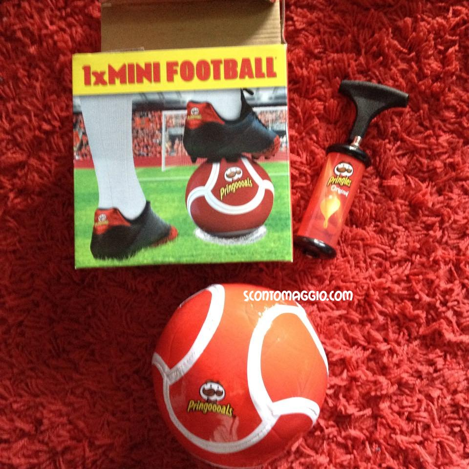 omaggi ricevuti mini football pringles