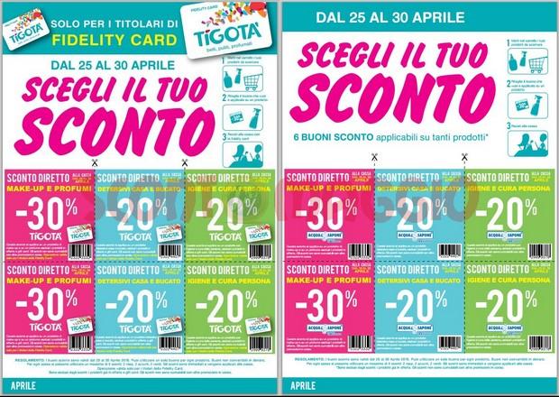 Scegli il tuo sconto: coupon Tigotà e Acqua e Sapone - scontOmaggio