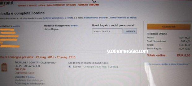 Buoni spesa amazon for Buoni omaggio amazon