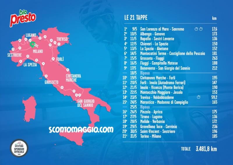 Calendario Giro D Italia.Calendario Giro Ditalia Scontomaggio