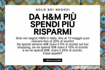H&M più spendi più risparmi