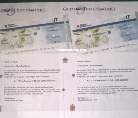 ticket compliments global test market