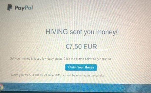 pagamento hiving