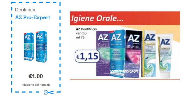 dentifricio az coupon offerta