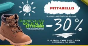low priced 86809 24d7a Buono sconto Pittarello del 30% sulle scarpe bambino o ...