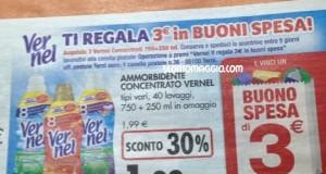 vernel ti regala 3 euro in buoni spesa