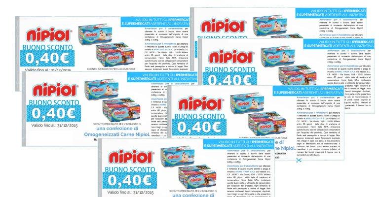Buoni sconto nipiol for Buoni coupon