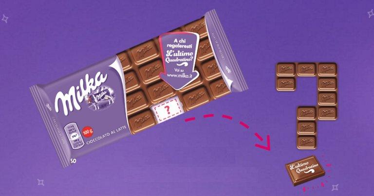 cioccolato milka ultimo quadratino