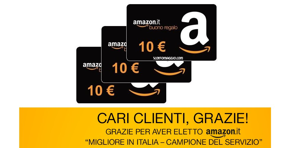Regalo buono sconto amazon for Regalo tutto gratis