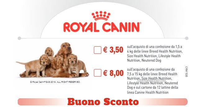 buono sconto royal canin