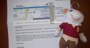 alta opinione ticket compliments 20 euro