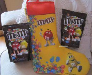 calza befana M&M's