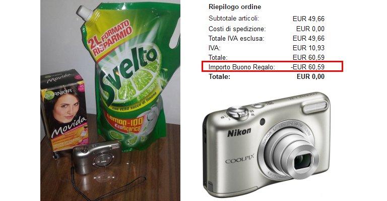 Fotocamera nikon gratis con i guadagni dei sondaggi for Amazon thun saldi