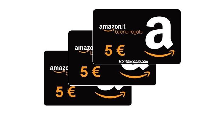 Buono amazon da 5 euro gratis ecco come averlo for Buoni omaggio amazon