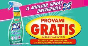 ace spray universale provami gratis