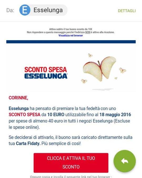 Buono sconto esselunga 2016 for Esselunga catalogo 2017
