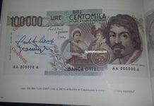 giornale della lira centomila lire